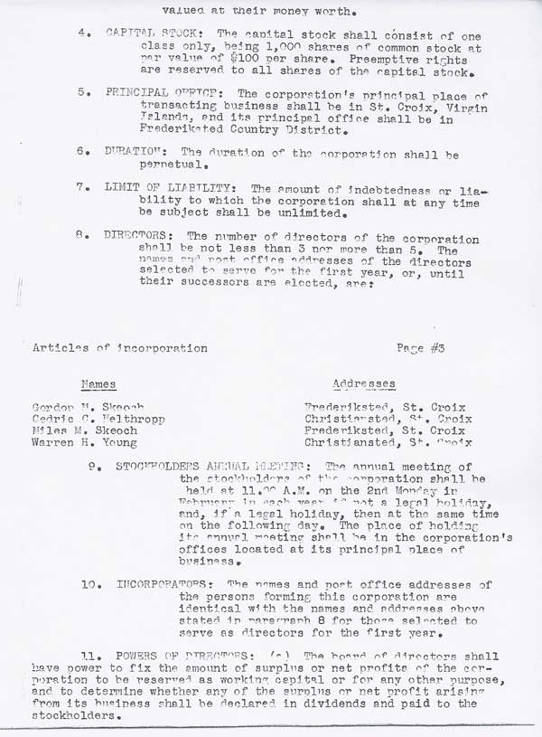 Articles of Incorporation page 3