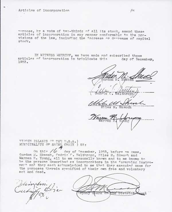 Articles of Incorporation page 5